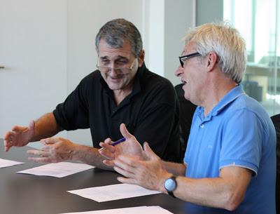David Levin and Bricsys CEO Erik de Keyser